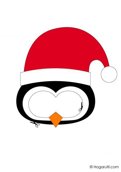 Kit descargable para hacer un photocall de Navidad - Pingüino