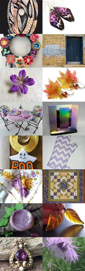 Purple Wings and Things! by StephG Watson on Etsy--Pinned with TreasuryPin.com
