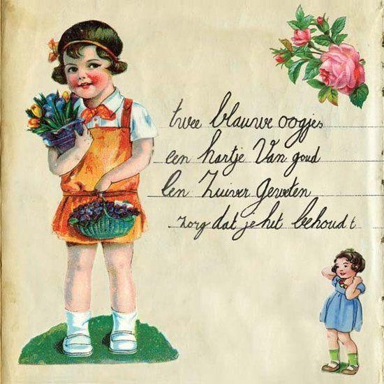 Poster Meisje poesiealbum   Gevonden geluk!   De Oude Speelkamer   Po u00ebzie plaatjes   Pinterest