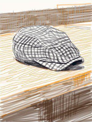 David Hockney book: Untitled, 13 November 2010, 1 iPad Drawing of a cap