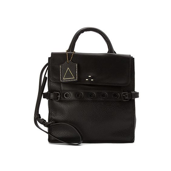 Kelsi Dagger Brooklyn Tabor Convertible ($198) ❤ liked on Polyvore featuring bags, handbags, shoulder bags, black, crossbody handbags, handbags & purses, women's, black leather purse, shoulder handbags and leather crossbody satchel