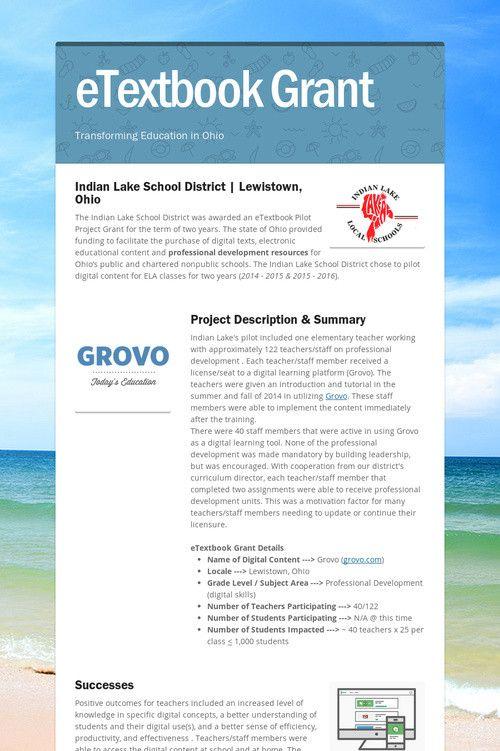 eTextbook Grant