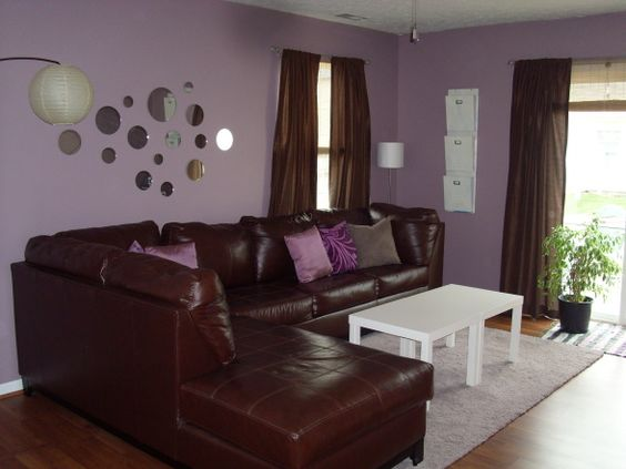 Ikea Brown Purple Retro Living Room Home Pinterest In The Light Cream Flats And Leather