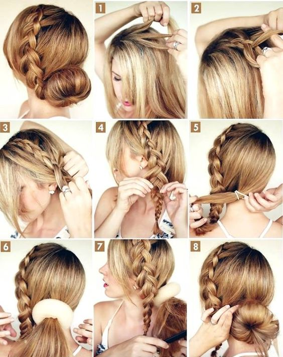Stupendous Hairstyles Cute Summer Hairstyles And Step By Step On Pinterest Hairstyle Inspiration Daily Dogsangcom