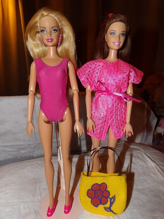 Pink swimsuit pink coverup and yellow tote by KelleysKreationsLV, $9.95