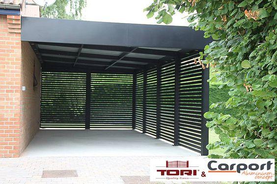 Carport Aluminium Sur mesure. www.toriportails.be
