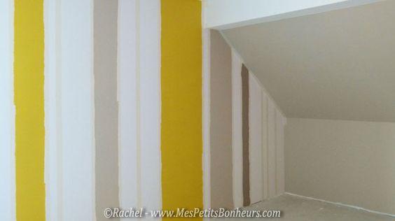 rayures jaune lin et cendre