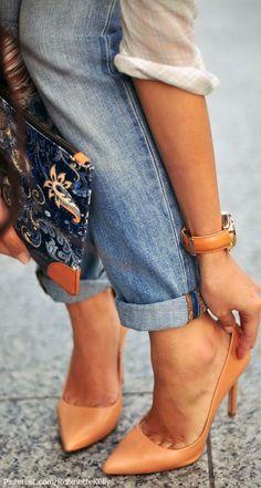 Escarpins abricot