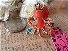 Betsey Johnson Red octopus ring # *B-180 - *B180, Betsey, Johnson, Octopus, Ring - http://designerjewelrygalleria.com/betsey-johnson/betsey-johnson-rings/betsey-johnson-red-octopus-ring-b-180/