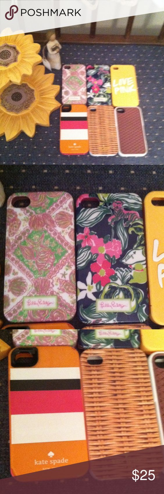 6 iPhone 4 4S cases Kate spade lilly pulitzer pink and vans Lilly Pulitzer Accessories Phone Cases