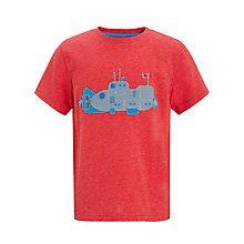 Buy John Lewis Boy Submarine T-Shirt, Red Online at johnlewis.com