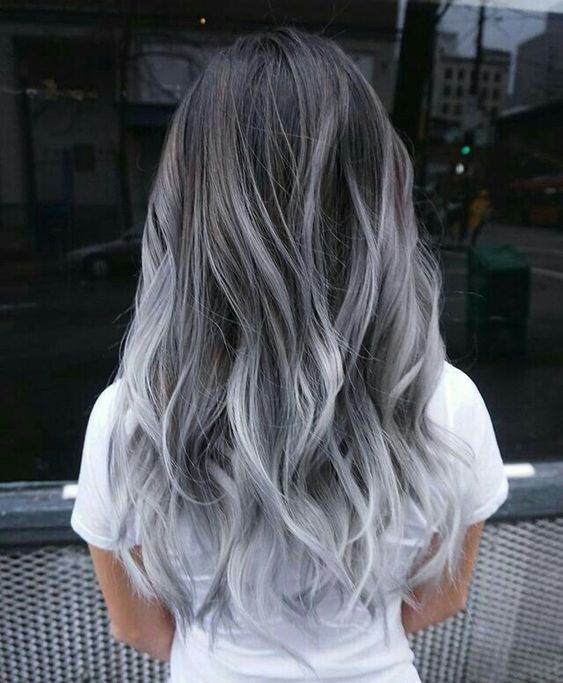 35 Cute And Crazy Hair Color Ideas For Long Hairs Bafbouf Hair Styles Grey Ombre Hair Colored Hair Tips