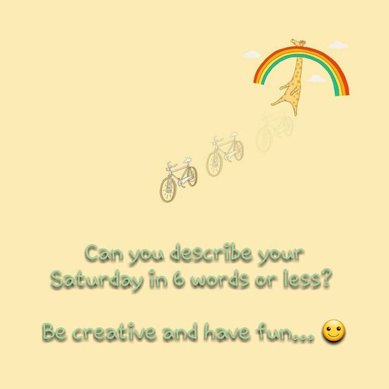 """Tell me about your Saturday in 6 words or less""   Can you describe your Saturday in 6 words or less?     http://www.lostandtired.com/2014/12/20/tell-me-about-your-saturday-in-6-words-or-less/  #Autism #Family #SPD #SpecialNeedsParenting"