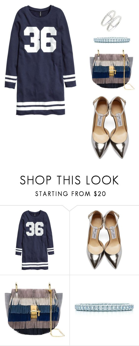 """""""36"""" by miryamhbb ❤ liked on Polyvore featuring H&M, Jimmy Choo, Chloé and Bony Levy"""