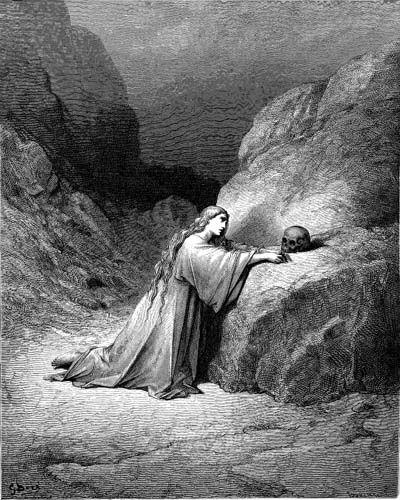 Mary Magdalene Repentant by Gustav Dore