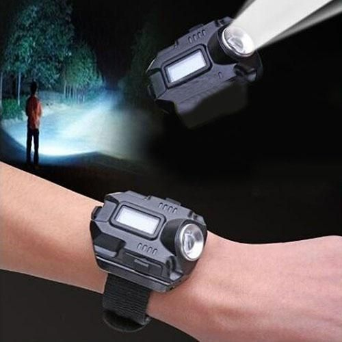 Rechargeable LED Wristlight Waterproof Wrist Light Outdoor Flashlight Lamp Torch
