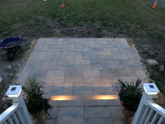 Nantucket Pavers Patio On A Pallet 12 In X 24 In And 24 In X 24 In 48 Sq Ft Concrete Gray Basketweave York Stone Paver 18 Pieces 30531 The Home Depot In 2020 Paver Patio York Stone Patio