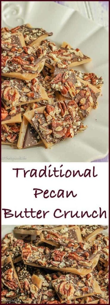 Pecan Butter Crunch: this traditional candy is super easy, perfect for Christmas cookie tins, great for a holiday cookie exchange, and always one of the big hits of my holiday table! Includes recipe for a salted peanut milk chocolate version too!