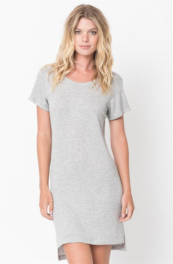 Short Sleeve Baby Terry Dress (S-XL) | Jane
