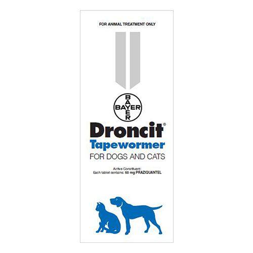 Droncit Tapewormer For Cats Cats Pet Supplies Dog Cat