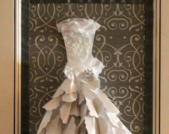Elizabeth, 3D, Paper Wedding Dress, Paper Dress, Bridal, Wedding Gift