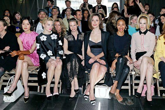 Los VIP del Paris Fashion Week Otono Invierno 2013 - Du Juan, Lea Seydoux, Renee Zellweger, Rebecca Hall, Zoe Saldana y January Jones