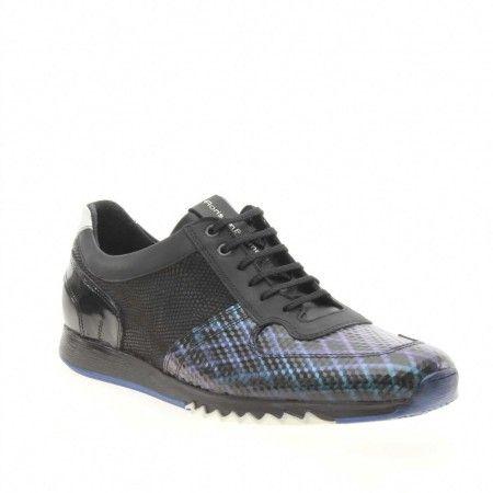 Sale Floris van Bommel 16127 Sneakers Zwart Metallic Leer online kopen bij Boots Shoes