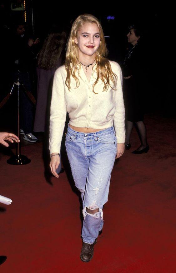 Petite celebrity style bomb :: Drew Barrymore :: The 90s