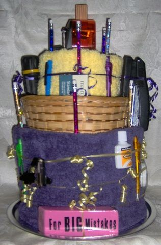 | Dorm or Office Towel Cake