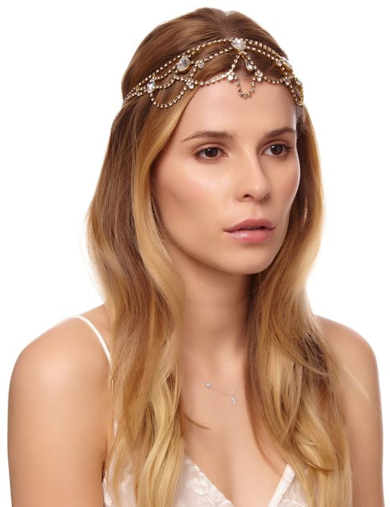 Antique Gold Swarovski Mara Halo Jennifer Behr