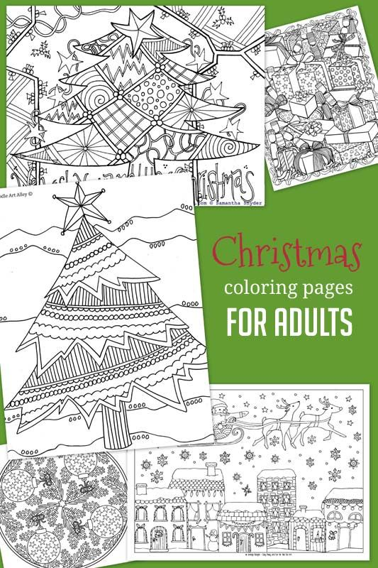 Christmas & Winter Coloring Pages for Kids to Color | Colorante ...
