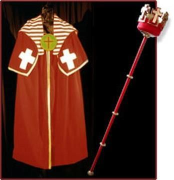Heirophant Robe and Wand  www.esotericgoldendawn.com