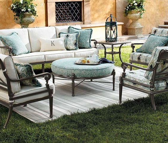 Our Carlisle Slate Seating Collection offers more compelling choices than ever. The impeccable, grandly scaled cast-aluminum frames are crafted to stand the test of time.