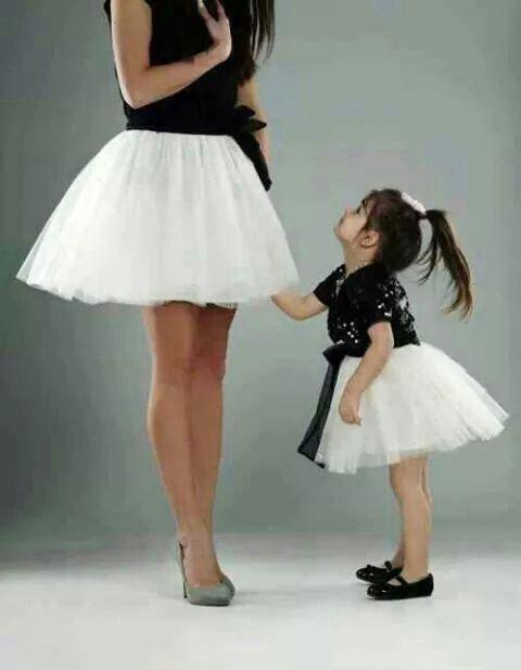 Mami e hija en tutu
