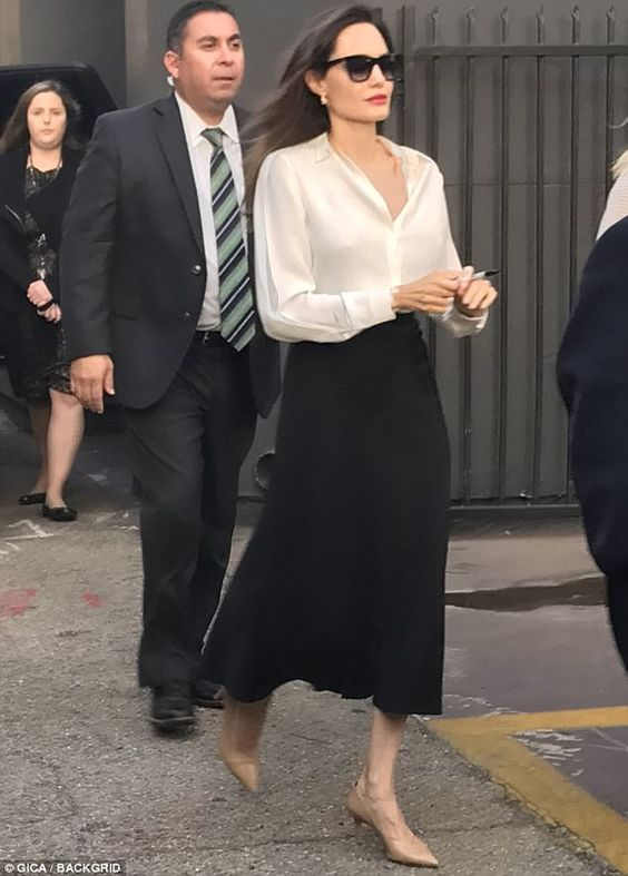 Star with a heart: The UN Ambassador donned a similar look while in New York City Thursday...