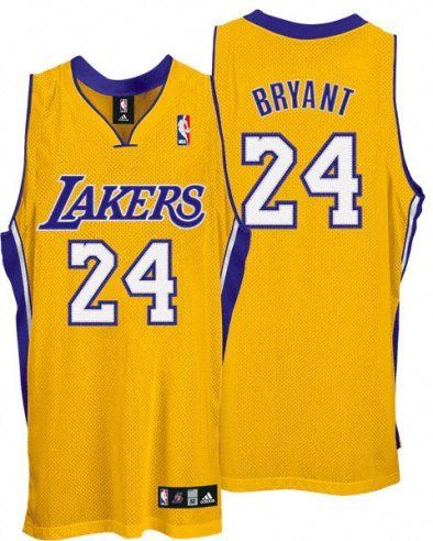 Kobe Bryant Lakers Adidas NBA Authentic Gold Jersey - Size 54 -2XL
