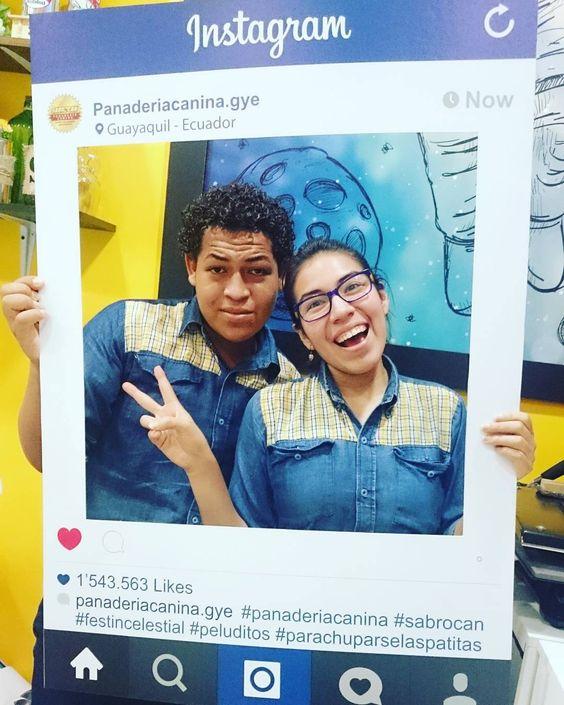 Instaframe para @panaderiacanina.gye gracias por confiar en nosotros  #solopublicity #mallelfortin #panaderiacanina #instaframe #instadog #sabrocan #peluditos