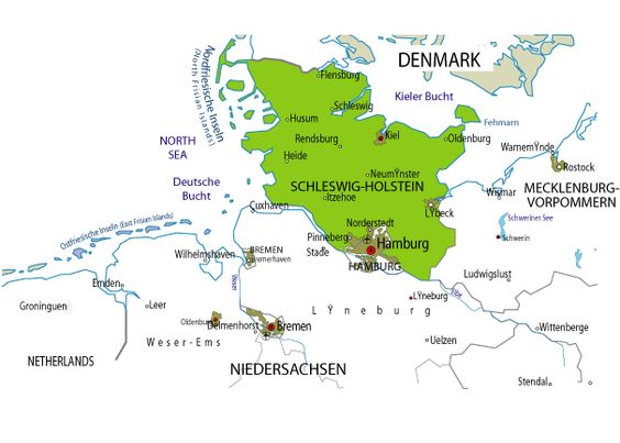 Holstein Germany – Germany Denmark Map