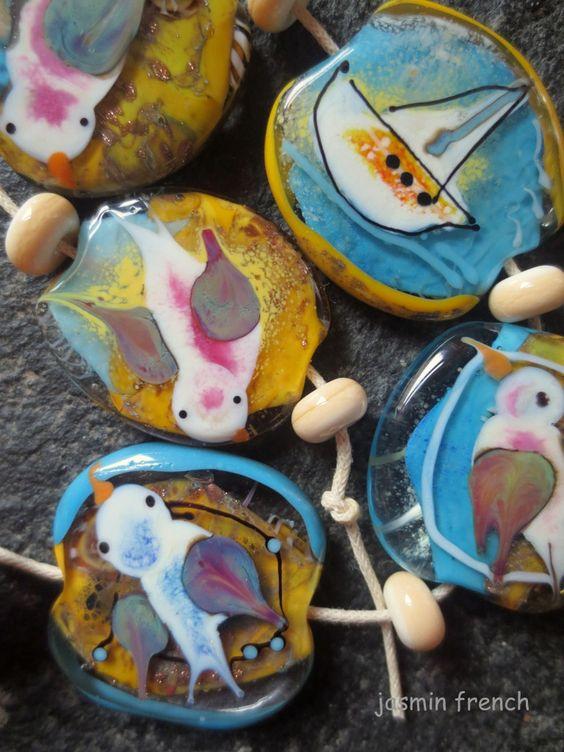 °° jasmin french °° the wadden sea lampwork beads set sra on ebay.com