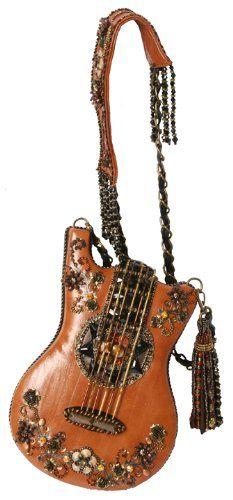 Mary Frances Hall Of Fame Guitar Carmel Brown Handbag