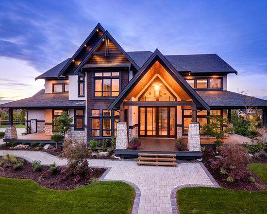 18 Warm And Cozy Chalet Style Exterior Design Ideas Modern House Exterior House Designs Exterior Modern Farmhouse Exterior