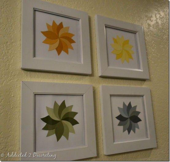 Paint chip pinwheels