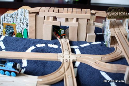Blocks & trains make a fantastic combination to take building projects ...