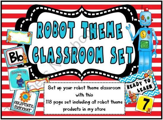 Robot Theme Classroom Set | School ideas | Pinterest | Robot Theme, Robots and Classroom