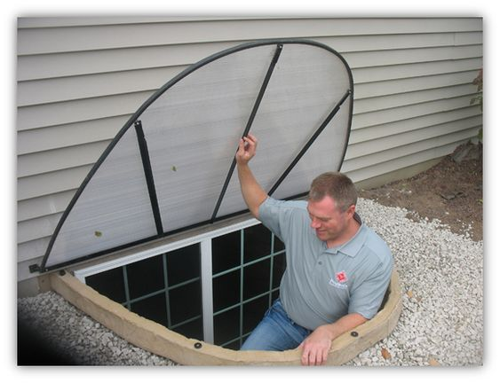 Basement Finishing Ideas Egress Window Cover For The