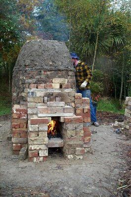 Peter's Pottery  |  My Wood-fired Kilns, all 7 (wood kilns don't have to be enormous!).