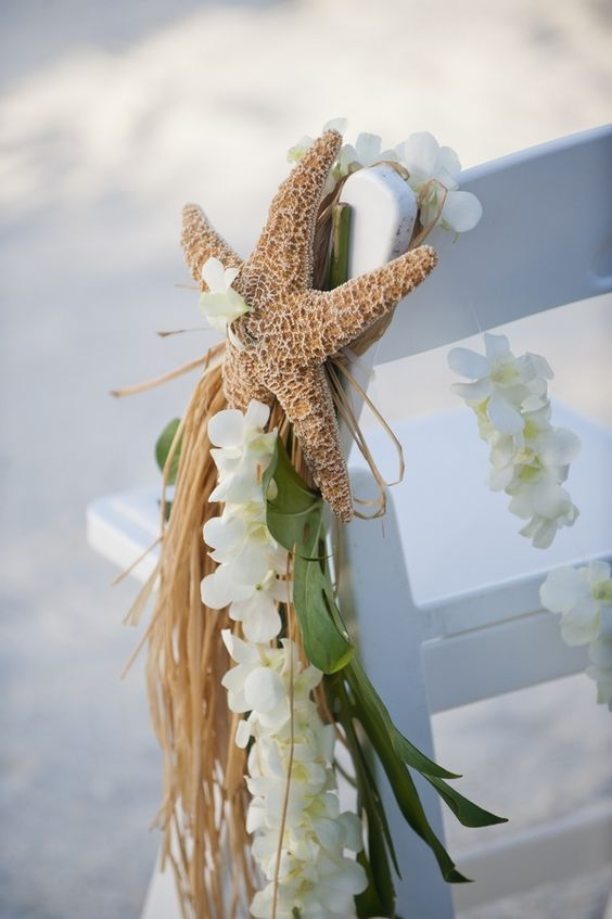 beach wedding chair decoration