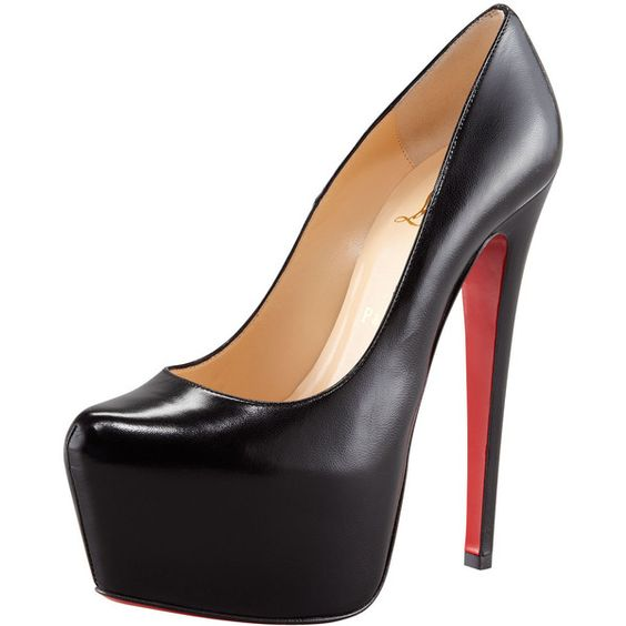 christian louboutin black shoes red soles