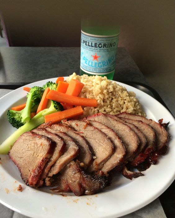 SF MJCafe BBQ pork hot lunch plate