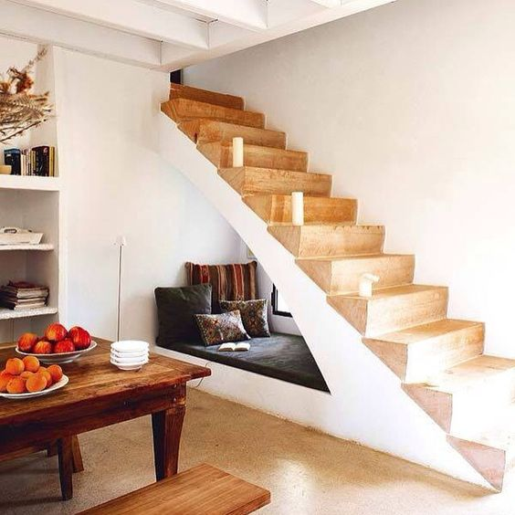 """Under the stairs reading nook - Get Inspired, visit: www.myhouseidea.com"""""""